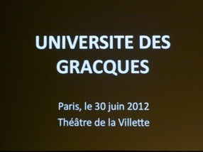 Université des Gracques 2012