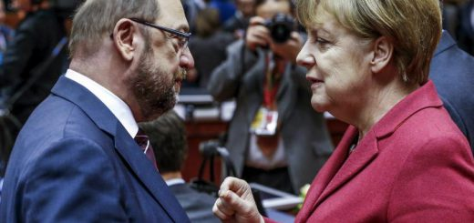 martin schulz and angela merkel
